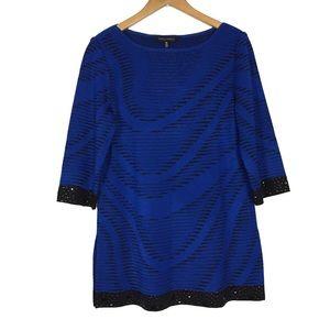 Ming Wang acrylic size M tunic sweater blouse top